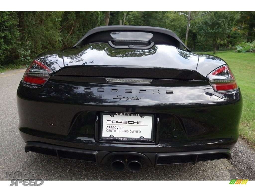 2016 Boxster Spyder - Black / Black photo #10
