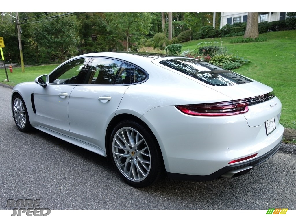 2018 Panamera 4 - Carrara White Metallic / Black/Luxor Beige photo #4