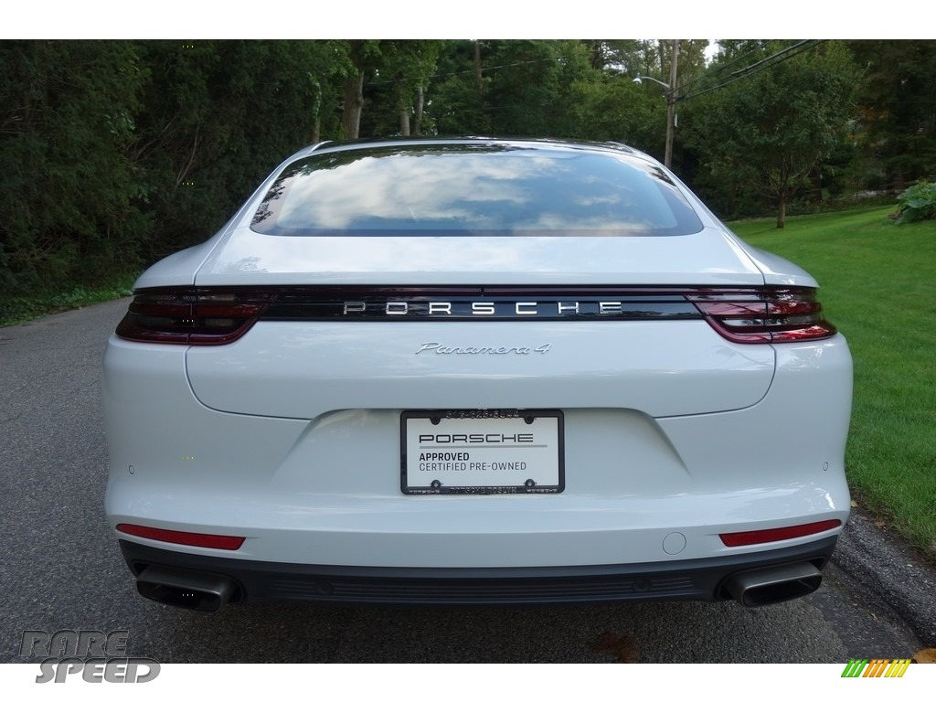 2018 Panamera 4 - Carrara White Metallic / Black/Luxor Beige photo #5