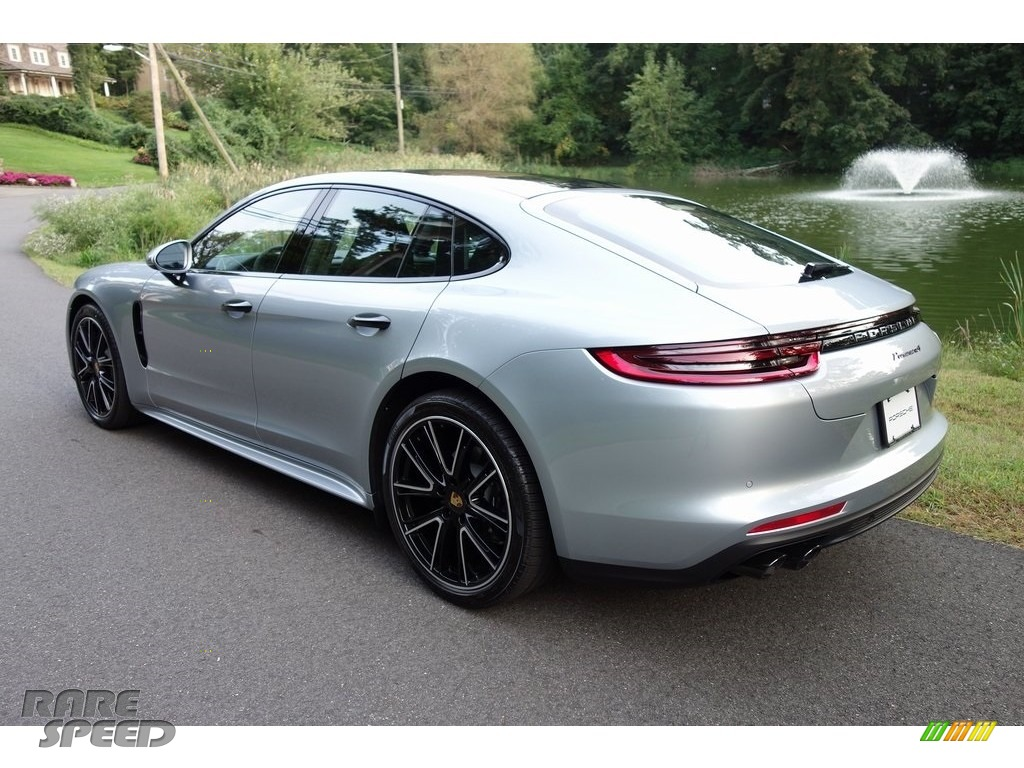2018 Panamera 4 - Rhodium Silver Metallic / Black photo #6