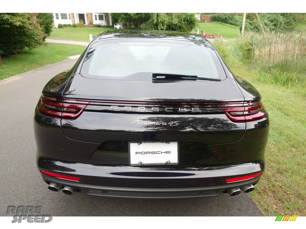 2018 Panamera 4S - Black / Black/Luxor Beige photo #5