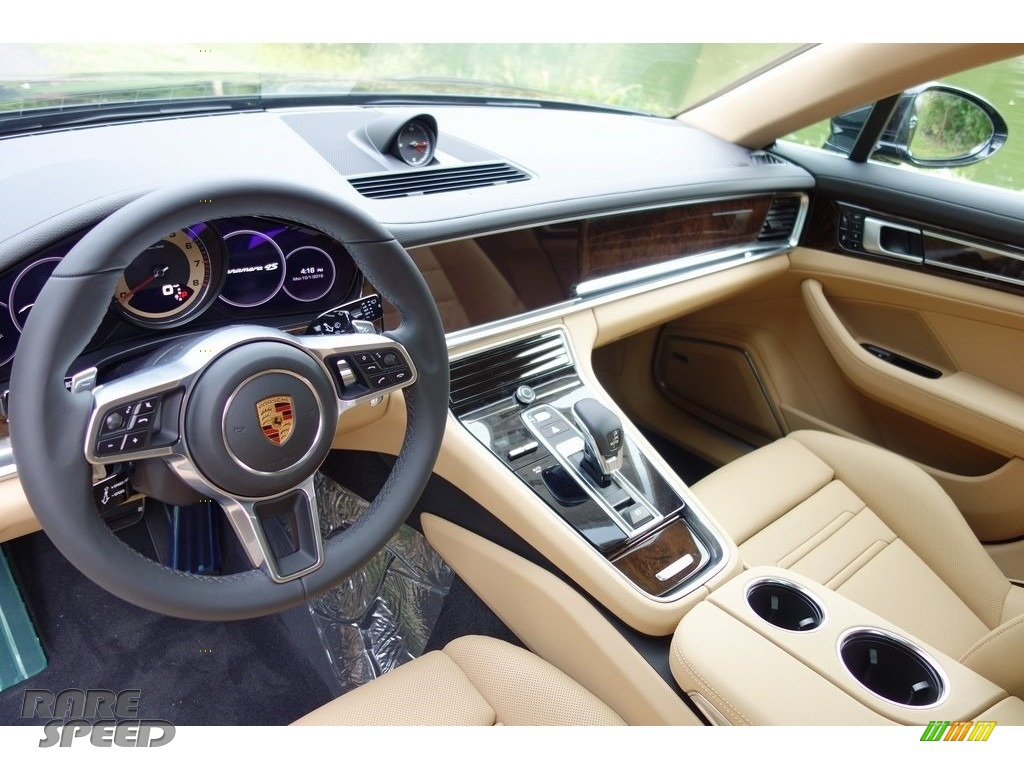 2018 Panamera 4S - Black / Black/Luxor Beige photo #10