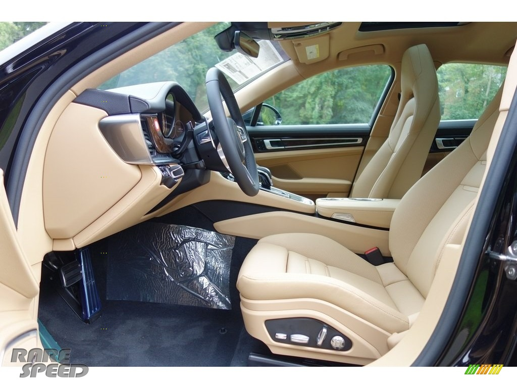 2018 Panamera 4S - Black / Black/Luxor Beige photo #12