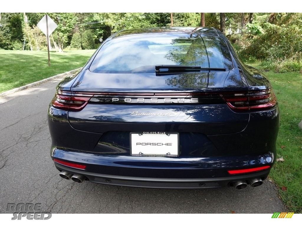 2018 Panamera 4S - Night Blue Metallic / Black/Luxor Beige photo #5