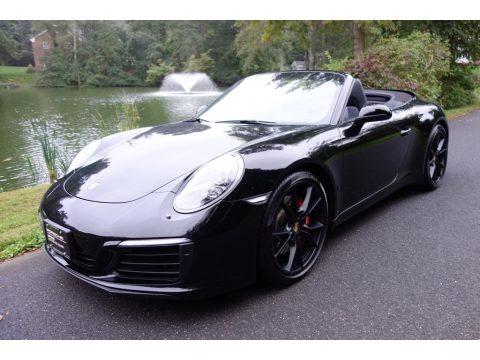 Black 2017 Porsche 911 Carrera S Cabriolet