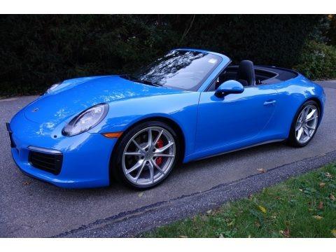 Paint to Sample Voodoo Blue 2017 Porsche 911 Carrera 4S Cabriolet