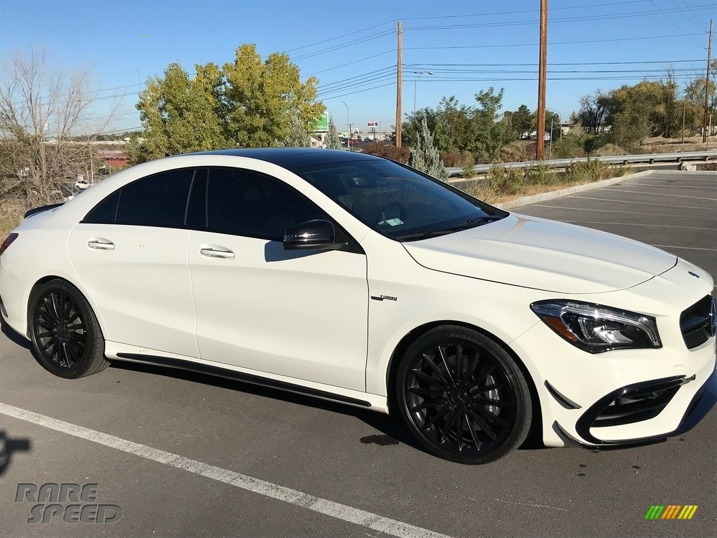 2017 CLA 45 AMG 4Matic Coupe - Cirrus White / Black photo #1