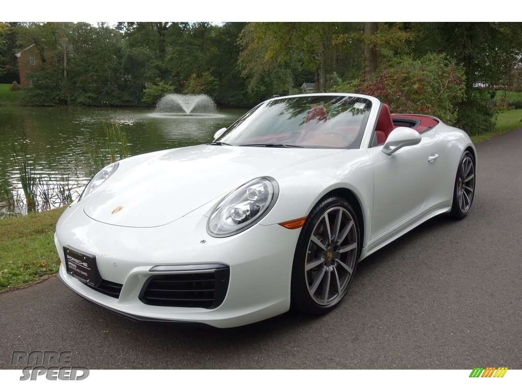 2017 911 Carrera 4S Cabriolet - White / Bordeaux Red photo #1