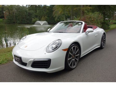 White 2017 Porsche 911 Carrera 4S Cabriolet