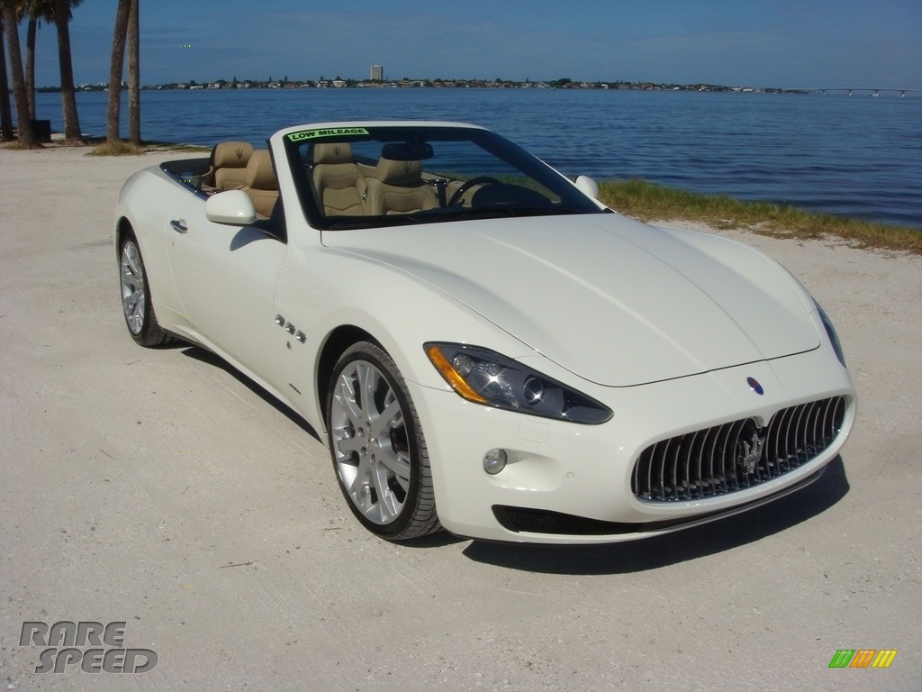 2014 GranTurismo Convertible GranCabrio - Bianco Eldorado (White) / Sabbia photo #1