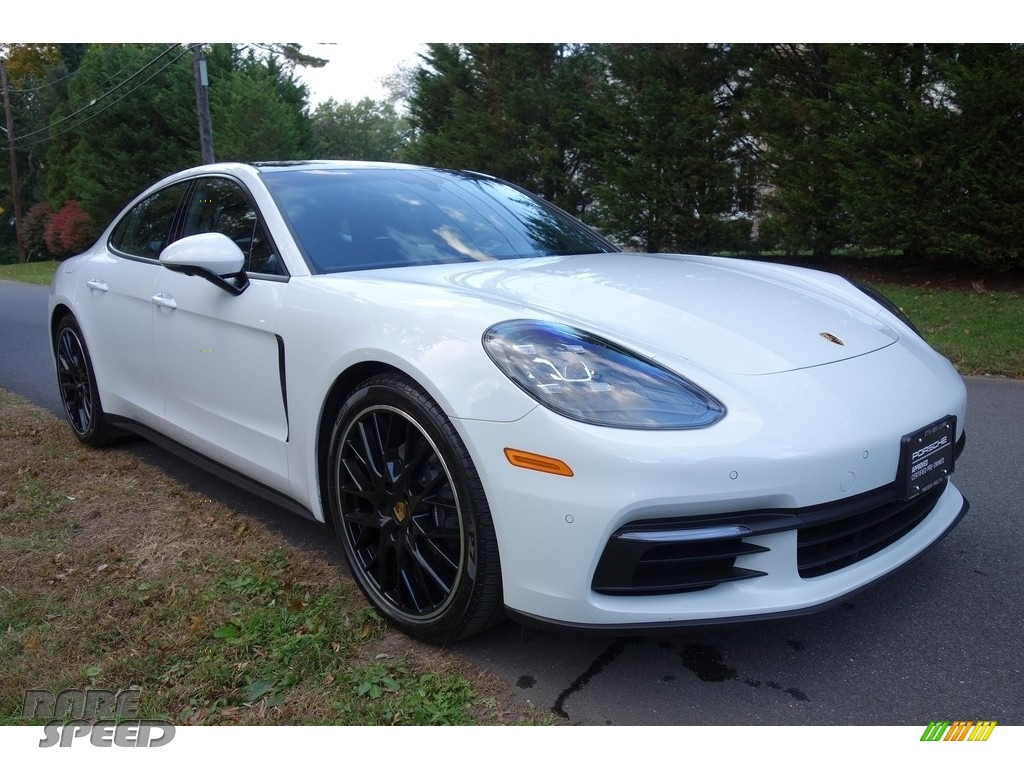 2018 Panamera 4 - Carrara White Metallic / Black photo #7