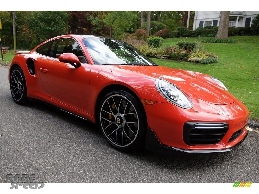 2018 911 Turbo S Coupe - Lava Orange / Espresso/Cognac Natural photo #1