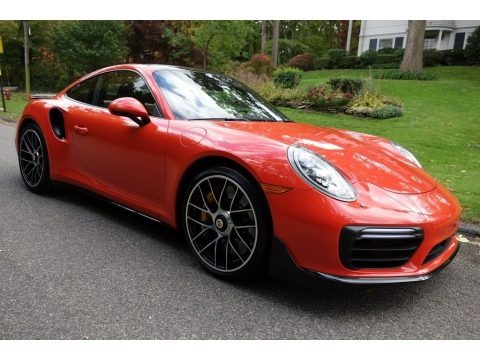 Lava Orange 2018 Porsche 911 Turbo S Coupe