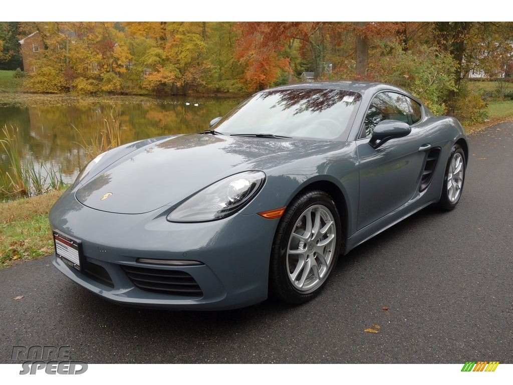 Graphite Blue Metallic / Black Porsche 718 Cayman