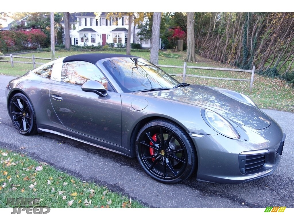 2017 911 Targa 4S - Agate Grey Metallic / Black/Bordeaux Red photo #8