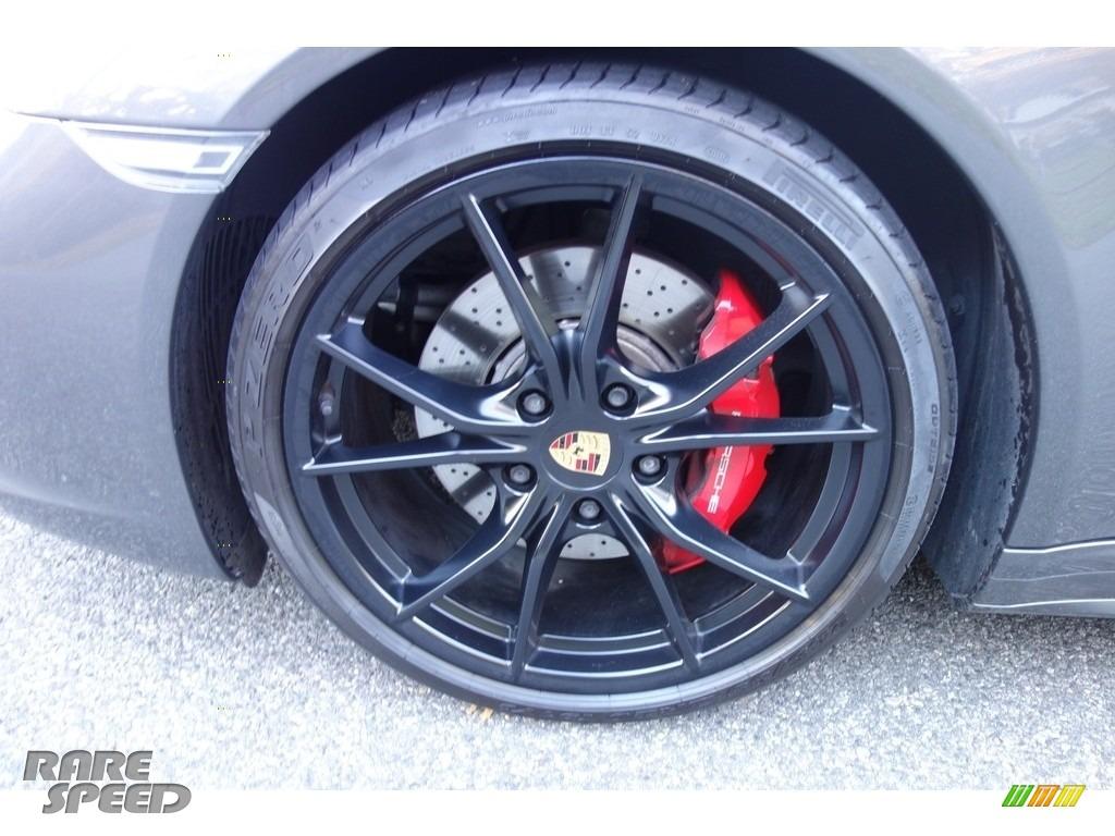 2017 911 Targa 4S - Agate Grey Metallic / Black/Bordeaux Red photo #10