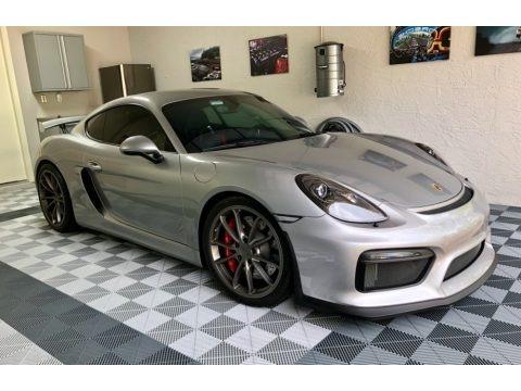 GT Silver Metallic 2016 Porsche Cayman GT4