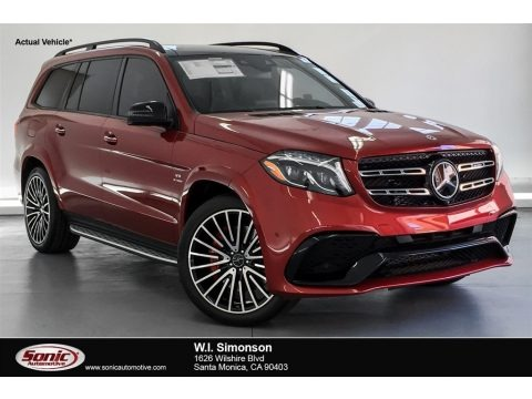 designo Cardinal Red Metallic 2018 Mercedes-Benz GLS 63 AMG 4Matic