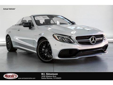 Iridium Silver Metallic 2018 Mercedes-Benz C 63 AMG Cabriolet
