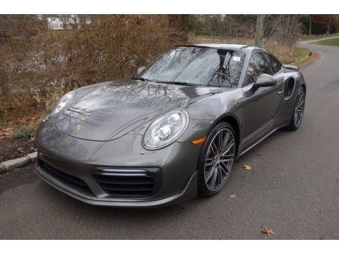 Agate Grey Metallic 2017 Porsche 911 Turbo Coupe