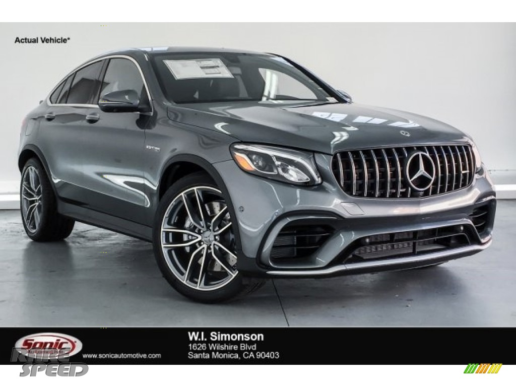 2019 GLC AMG 63 4Matic - Selenite Grey Metallic / Black photo #1