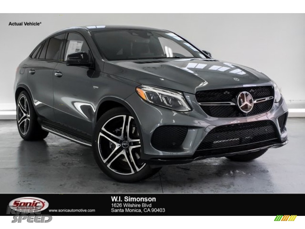 2019 GLE 43 AMG 4Matic Coupe - Selenite Grey Metallic / Black photo #1