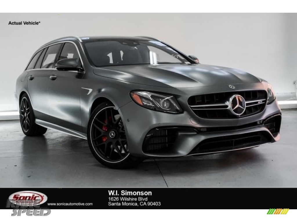 2019 E AMG 63 S 4Matic Wagon - designo Selenite Grey Magno (Matte) / Nut Brown/Black photo #1