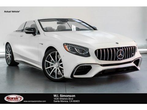 designo Cashmere White (Matte) 2019 Mercedes-Benz S AMG 63 4Matic Cabriolet