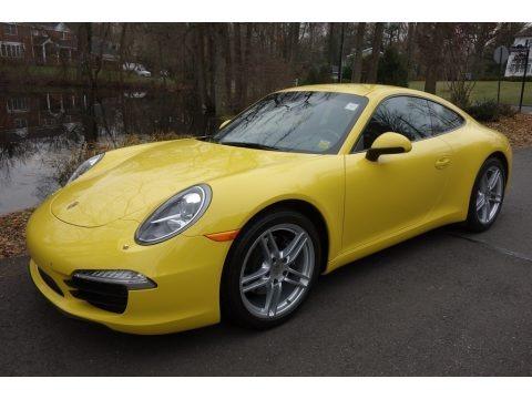 Racing Yellow 2016 Porsche 911 Carrera Coupe