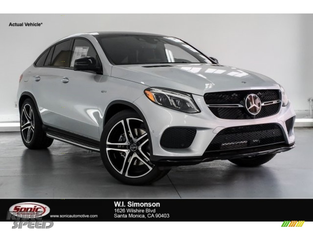 Iridium Silver Metallic / Black Mercedes-Benz GLE 43 AMG 4Matic Coupe