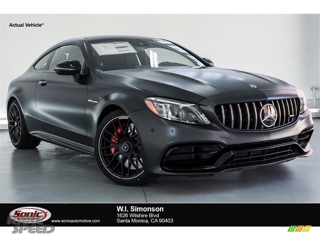 2019 C AMG 63 S Coupe - designo Graphite Grey Magno (Matte) / Magma Grey/Black photo #1