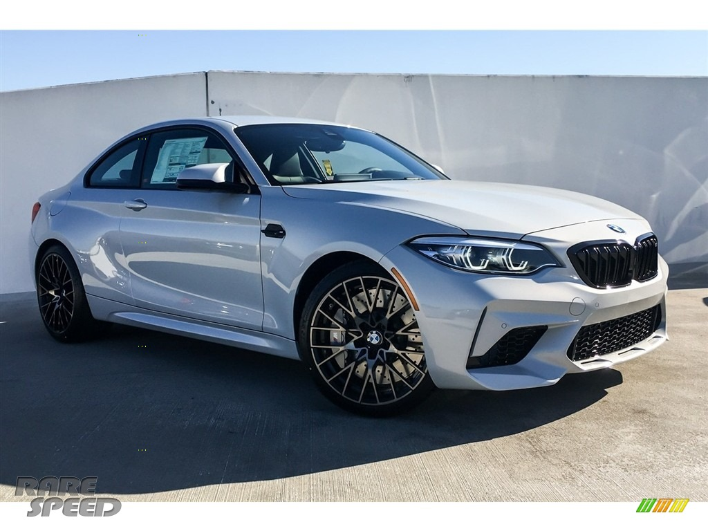 2019 M2 Competition Coupe - Hockenheim Silver Metallic / Black w/Blue Stitching photo #12