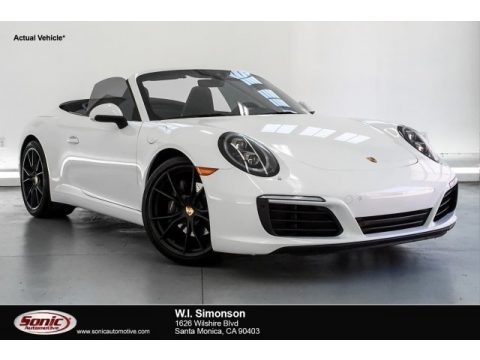 White 2017 Porsche 911 Carrera Cabriolet