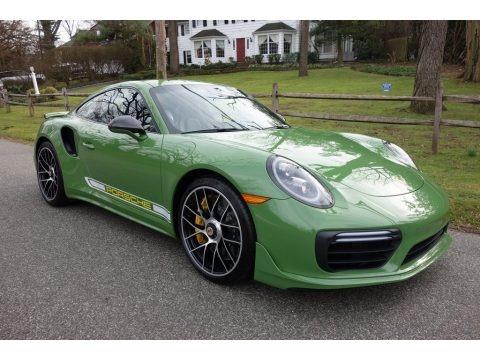 Custom Color (Green) 2019 Porsche 911 Turbo S Coupe
