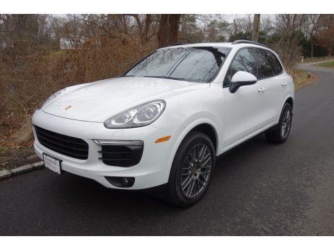 White 2018 Porsche Cayenne Platinum Edition