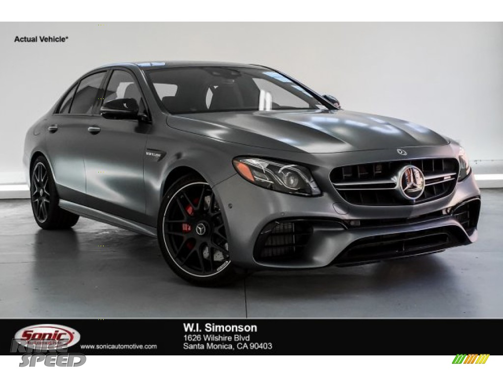 2019 E AMG 63 S 4Matic Sedan - designo Selenite Grey Magno (Matte) / Black photo #1