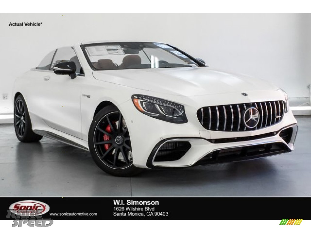 designo Cashmere White (Matte) / designo Saddle Brown/Black Mercedes-Benz S AMG 63 4Matic Cabriolet
