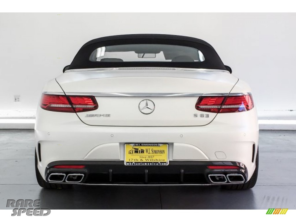 2019 S AMG 63 4Matic Cabriolet - designo Cashmere White (Matte) / designo Saddle Brown/Black photo #3