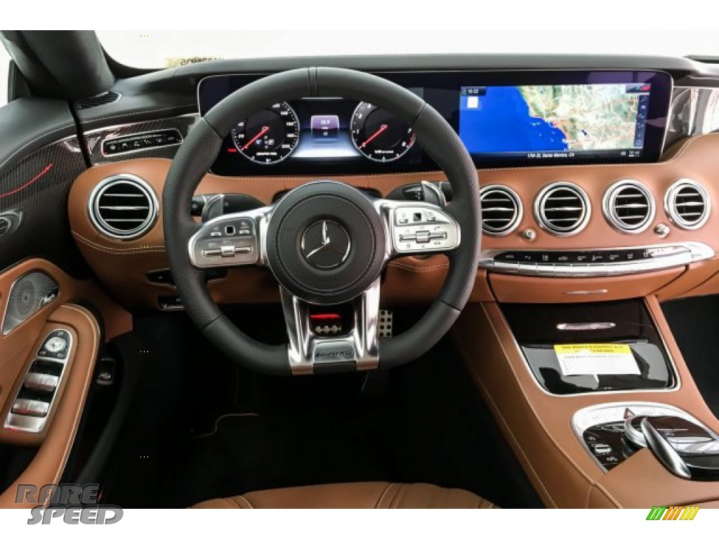 2019 S AMG 63 4Matic Cabriolet - designo Cashmere White (Matte) / designo Saddle Brown/Black photo #4