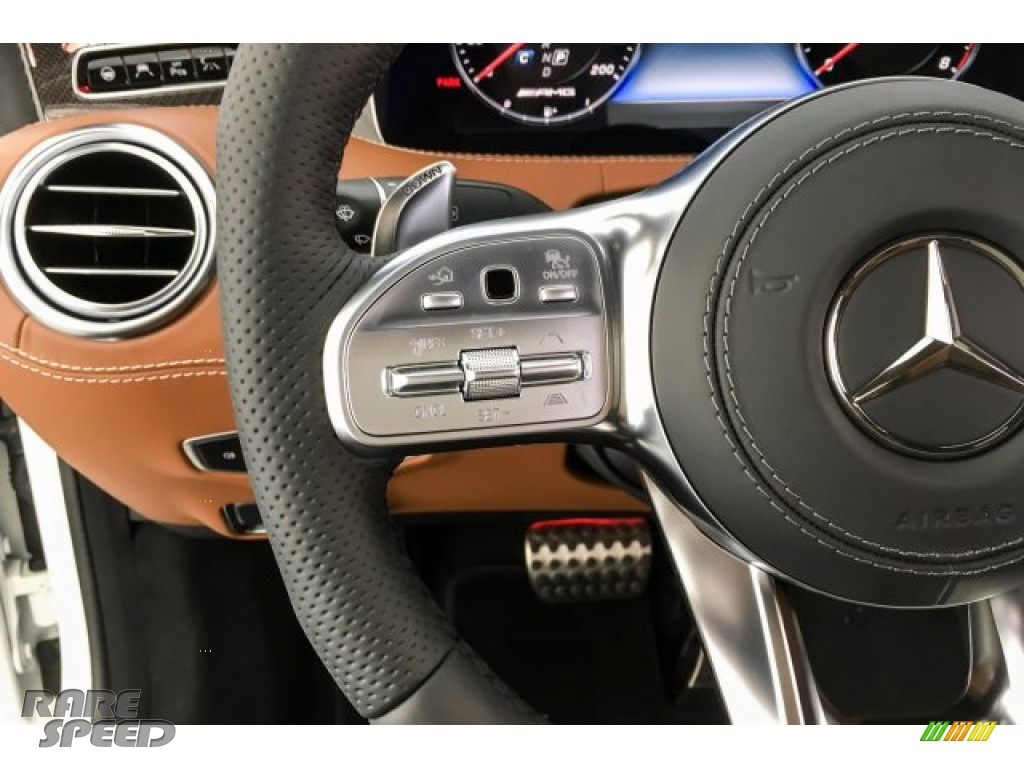 2019 S AMG 63 4Matic Cabriolet - designo Cashmere White (Matte) / designo Saddle Brown/Black photo #19