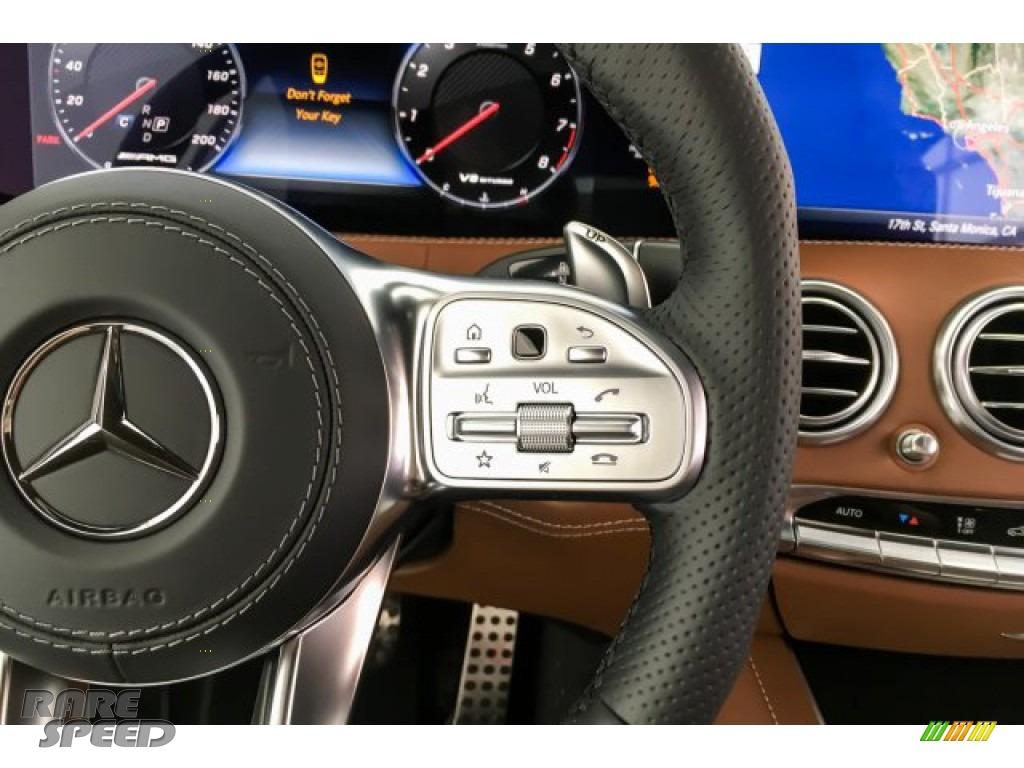 2019 S AMG 63 4Matic Cabriolet - designo Cashmere White (Matte) / designo Saddle Brown/Black photo #20