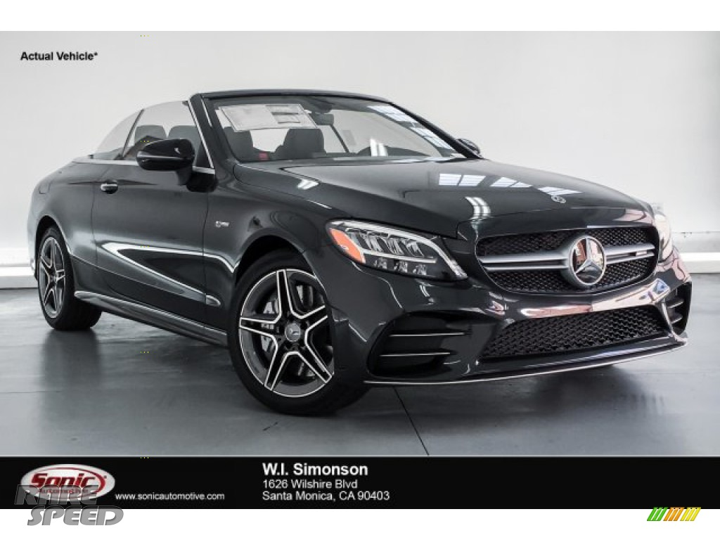 2019 C 43 AMG 4Matic Cabriolet - Graphite Grey Metallic / Black photo #1