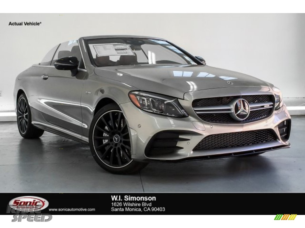 2019 C 43 AMG 4Matic Cabriolet - Mojave Silver Metallic / Cranberry Red/Black photo #1