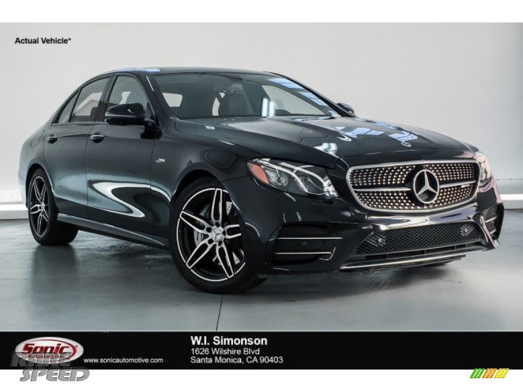2019 E 53 AMG 4Matic Sedan - Obsidian Black Metallic / Black/DINAMICA w/Red Stitching photo #1