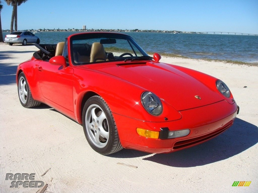 1995 911 Carrera Cabriolet - Guards Red / Cashmere Beige photo #1