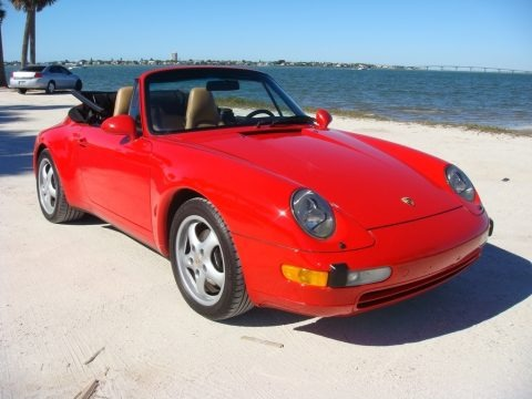 Guards Red 1995 Porsche 911 Carrera Cabriolet