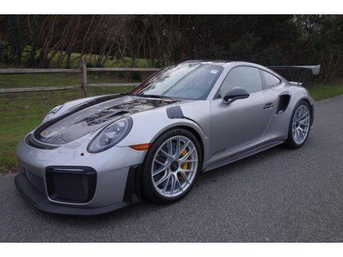 GT Silver Metallic 2018 Porsche 911 GT2 RS