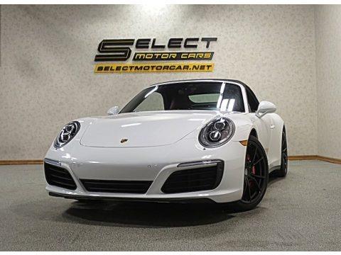 Carrara White Metallic 2017 Porsche 911 Carrera 4S Cabriolet