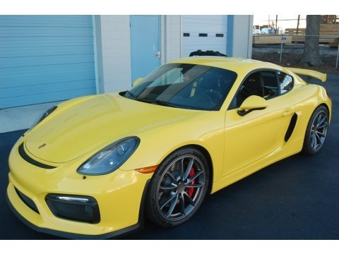 Racing Yellow 2016 Porsche Cayman GT4