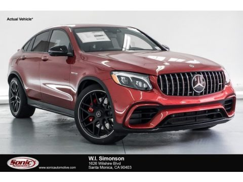 designo Cardinal Red Metallic 2019 Mercedes-Benz GLC AMG 63 S 4Matic Coupe